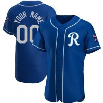 Men's Kansas City Royals Blue Customized Stitched MLB Jersey