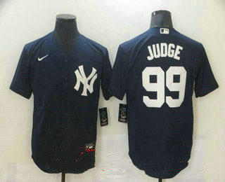 Men's New York Yankees #99 Aaron Judge Navy Blue Stitched MLB Nike Cool Base Jersey