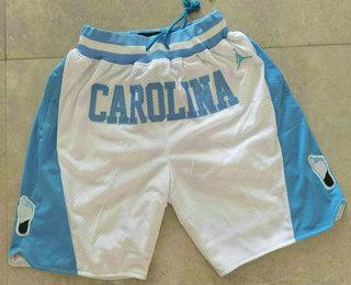 Men's North Carolina Tar Heels White College Basketball Brand Jordan Just Don Swingman Shorts