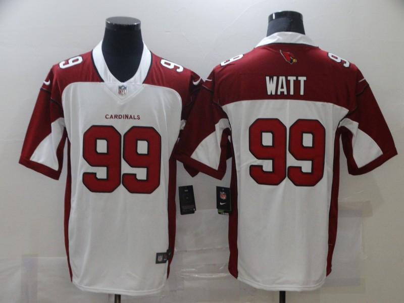 Men's Arizona Cardinals #99 J. J. Watt White 2021 Vapor Untouchable Stitched NFL Nike Limited Jersey