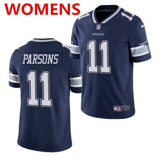 Women's Dallas Cowboys #11 Micah Parsons Blue 2021 Draft Jersey
