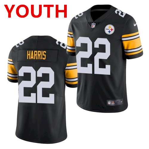 Youth pittsburgh steelers #22 najee harris black 2021 limited football jersey