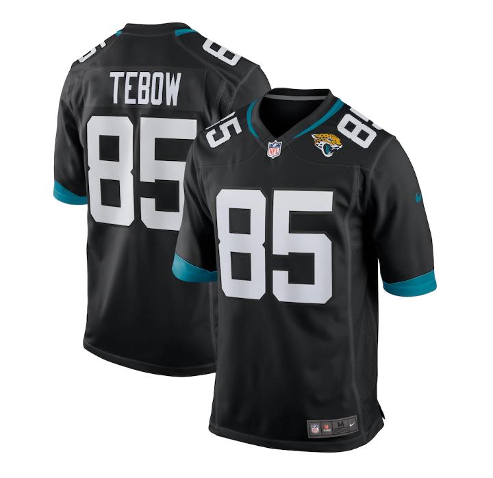 Men's Nike Jacksonville Jaguars #85 Tim Tebow Black Alternate Game Jersey