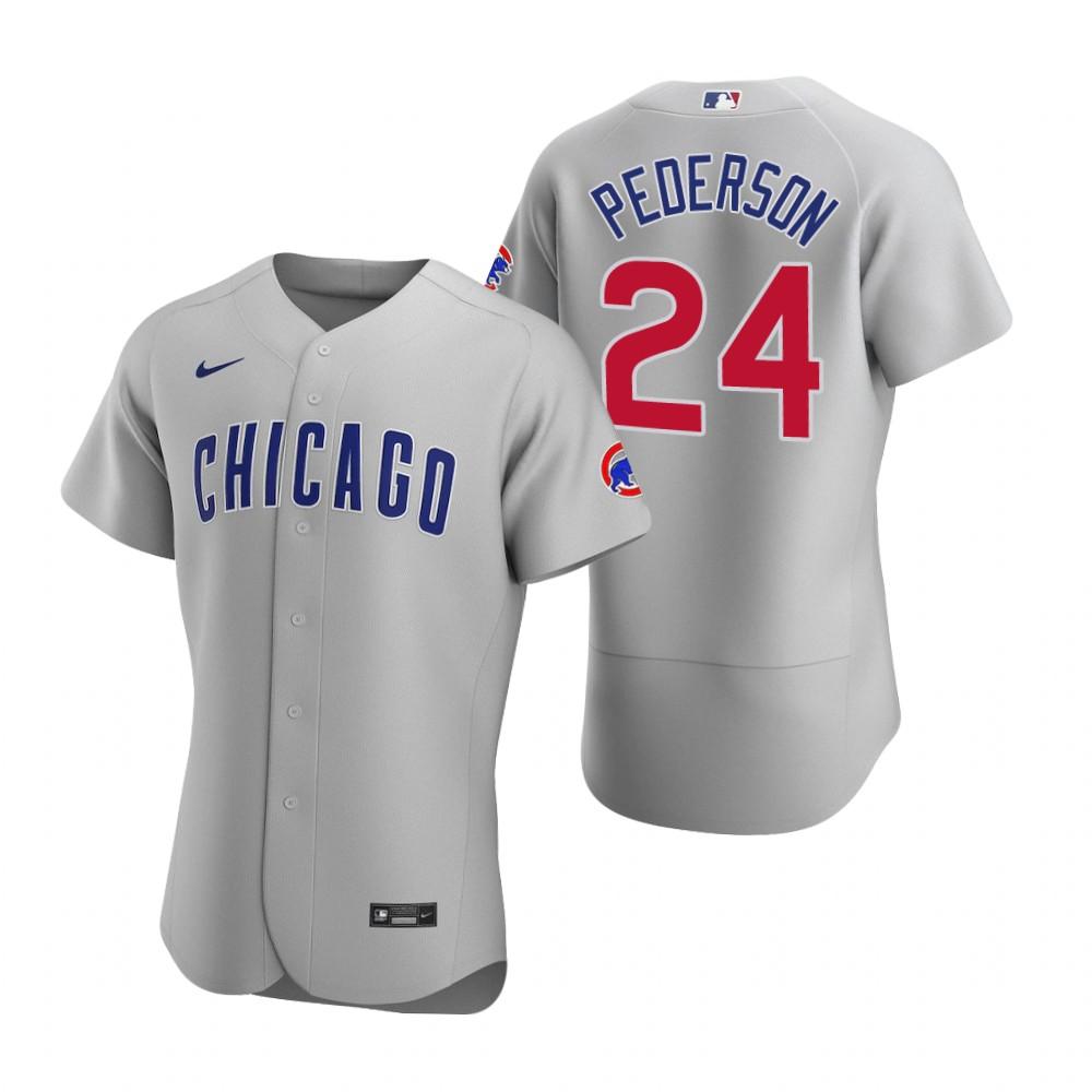 Men's Chicago Cubs #24 Joc Pederson Nike Gray Authentic Road Jersey