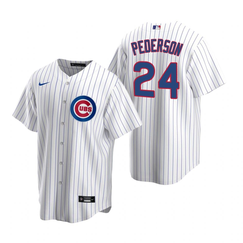 Men's Chicago Cubs #24 Joc Pederson Nike White Replica Home Jersey