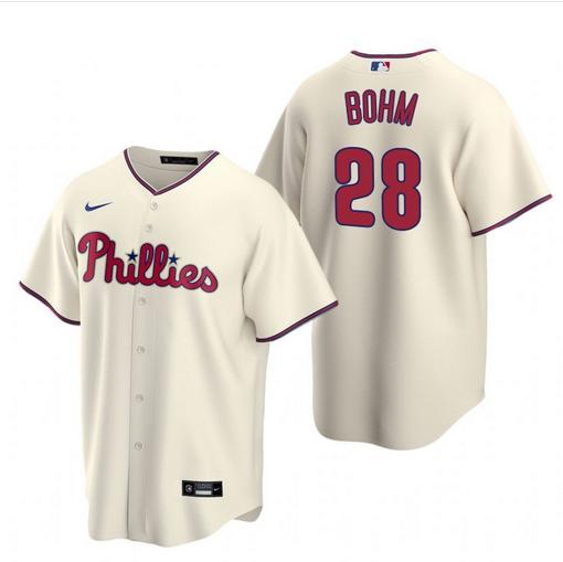 Philadelphia Phillies #28 Alec Bohm Cream Alternate Jersey