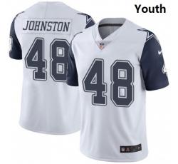 Youth Dallas Cowboys #48 Daryl Johnston Nike Rush Limited Jersey