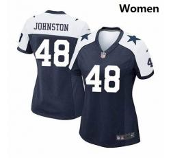 Women Dallas Cowboys #48 Daryl Johnston Nike Thanksgivens Limited Jersey