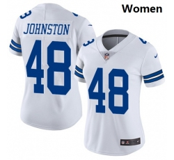 Women Dallas Cowboys #48 Daryl Johnston Nike Vapor White Limited Jersey