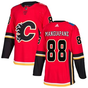 Men's Calgary Flames #88 Andrew Mangiapane Adidas Authentic Home Red Jersey