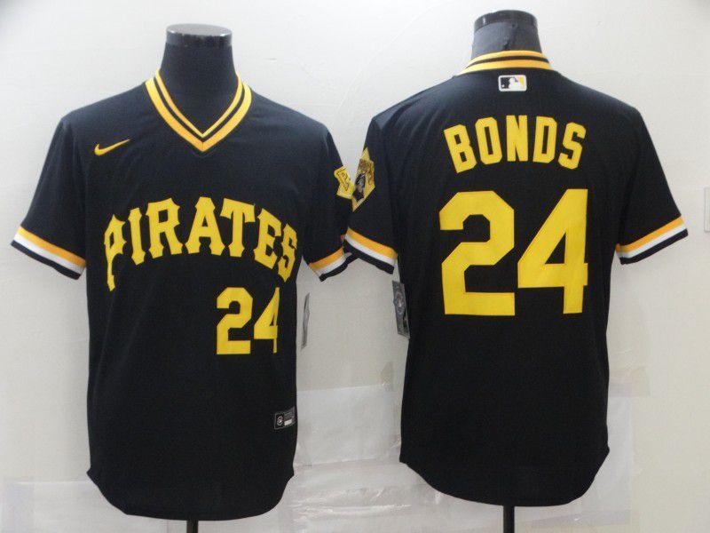 Men Pittsburgh Pirates 24 Bonds Black Game 2021 Nike MLB Jersey