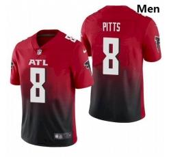 Men Atlanta Falcons #8 Kyle Pitts Red 2021 Draft Jersey