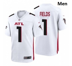 Men Atlanta Falcons #1 Justin Fields White 2021 Draft Jersey