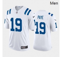 Men Indianapolis Colts #19 Kwity Paye Royal White 2021 Draft Jersey
