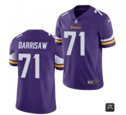 Men Minnesota Vikings #71 Christian Darrisaw Purple 2021 Vapor Untouchable Limited Stitched NFL Jersey