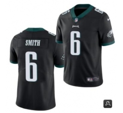 Men Philadelphia Eagles #6 DeVonta Smith 2021 NFL Draft Black Vapor Untouchable Limited Stitched Jersey