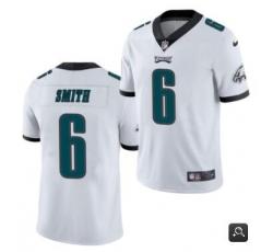 Men Philadelphia Eagles #6 DeVonta Smith 2021 NFL Draft White Vapor Untouchable Limited Stitched Jersey