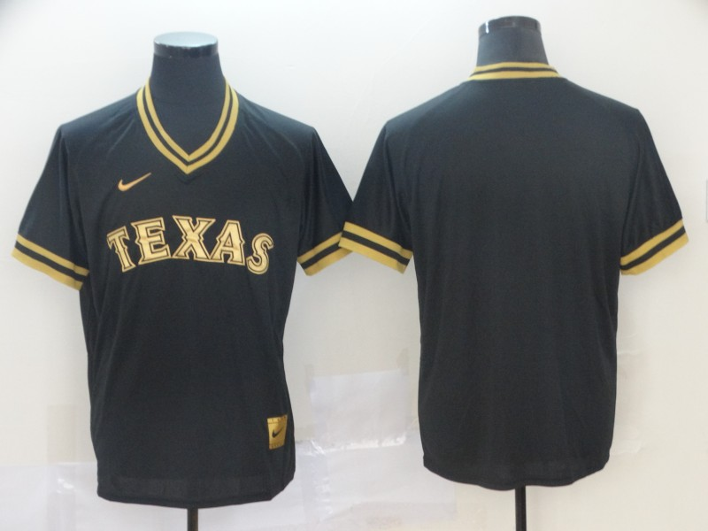 Men Texas Rangers Blank Black Game Nike MLB Jerseys