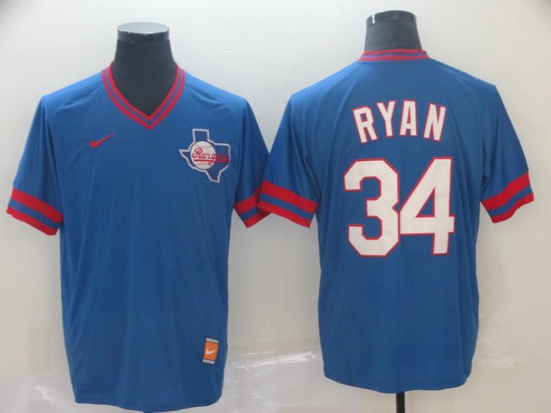 Men Texas Rangers 34 Ryan Blue Game Nike MLB Jerseys