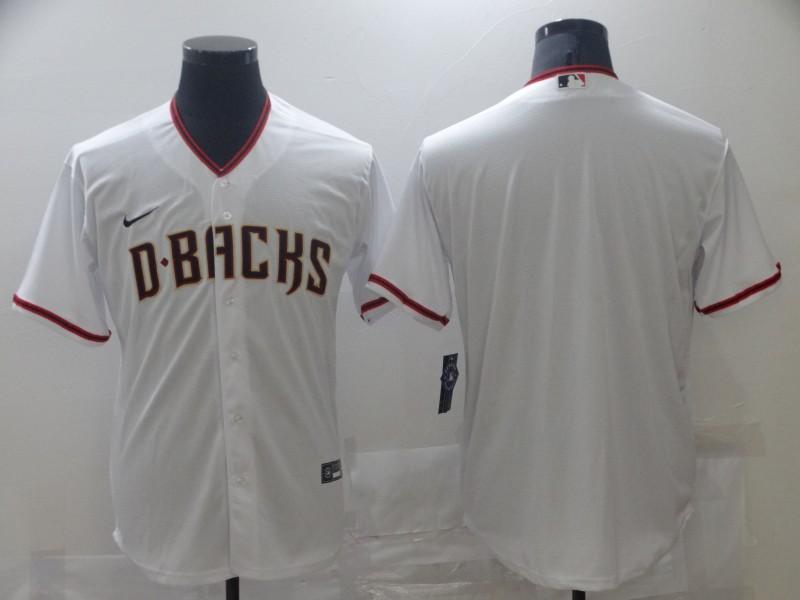 Men's Arizona Diamondback Blank White Stitched MLB Cool Base Nike Jersey