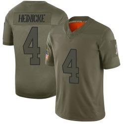 Men's Taylor Heinicke Washington Football Team No.4 Limited 2019 Salute to Service Jersey - Camo