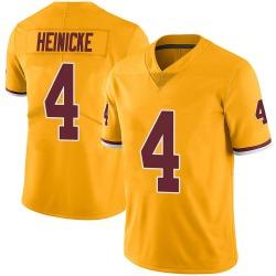 Men's Taylor Heinicke Washington Football Team No.4 Limited Color Rush Jersey - Gold
