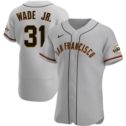 Men's San Francisco Giants #31 LaMonte Wade Jr Grey 2021 Road Player Jersey