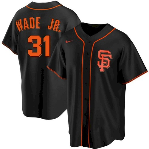 Men's San Francisco Giants 31 LaMonte Wade Jr Black Replica Alternate Jersey