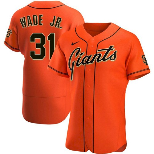 Men's San Francisco Giants #31 LaMonte Wade Jr Orange 2021 Alternate Jersey
