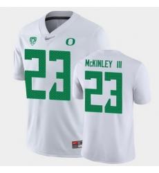Men Oregon Ducks Verone Mckinley Iii Game White College Football Jersey