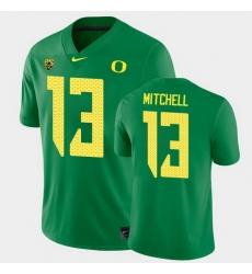 Men Oregon Ducks Dillon Mitchell College Football Green Game Jersey