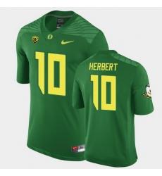 Men Oregon Ducks Justin Herbert Replica Green Game Football Jersey