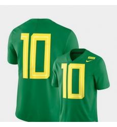 Men Oregon Ducks 10 Apple Green Nike 2018 Mighty Oregon Football Limited Jersey