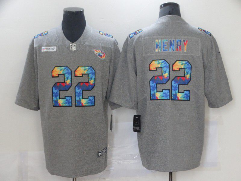 Men's Tennessee Titans #22 Derrick Henry 2020 Grey Crucial Catch Limited Stitched NFL Jersey