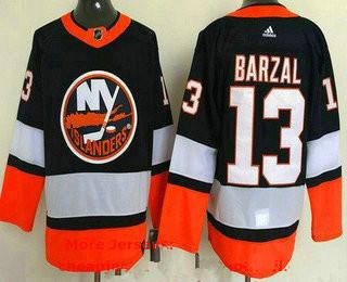 Men's new york islanders #13 mathew barzal navy 2021 reverse retro authentic jersey