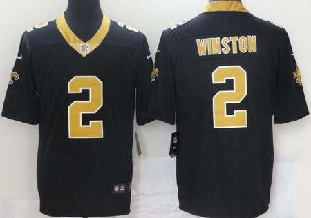 Men's New Orleans Saints #2 Jameis Winston Black 2021 Vapor Untouchable Stitched NFL Nike Limited Jersey