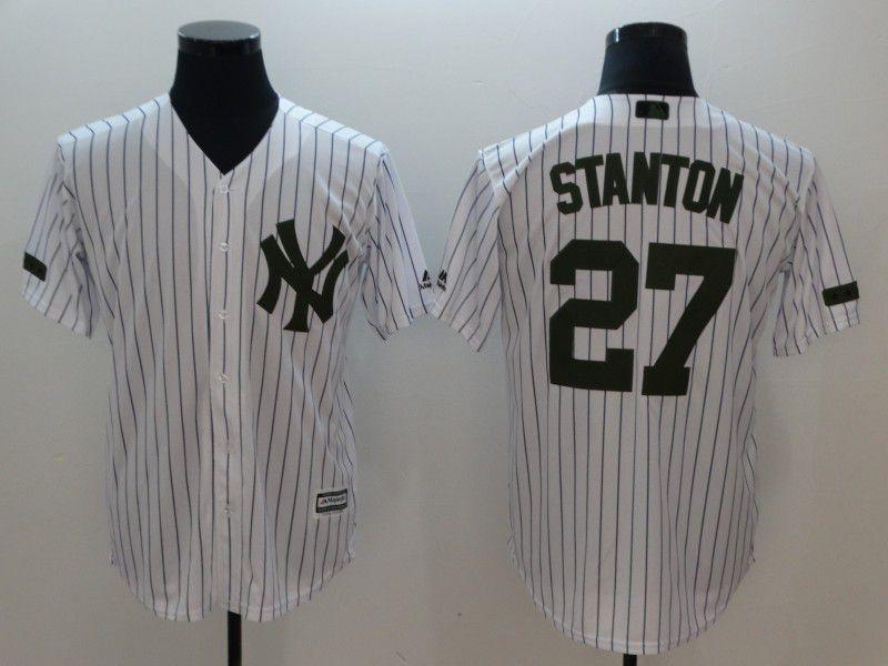Men New York Yankees 27 Stanton White Game 2021 MLB Jersey