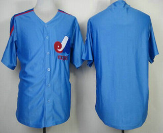 Men's Montreal Expos Blank 1982 Blue Mitchell & Ness Throwback Jersey