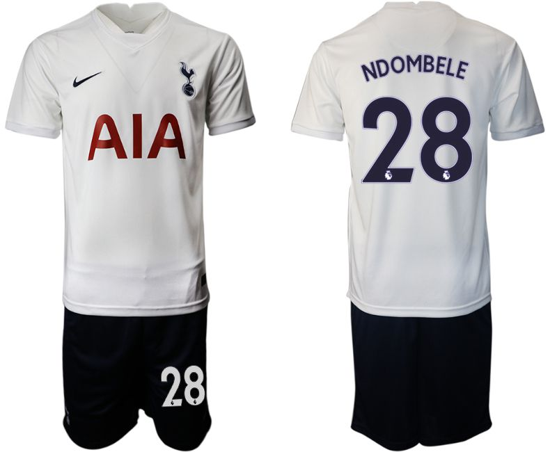 Men 2021-2022 Club Tottenham home white 28 Nike Soccer Jersey
