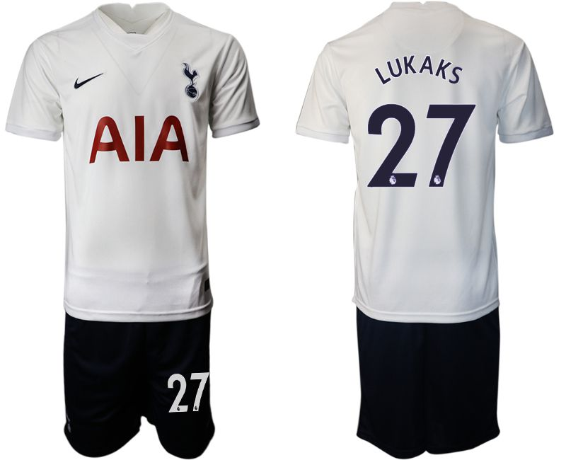 Men 2021-2022 Club Tottenham home white 27 Nike Soccer Jersey