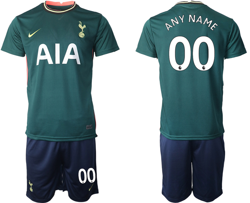 Men 2020-2021 club Tottenham away customized green Soccer Jerseys