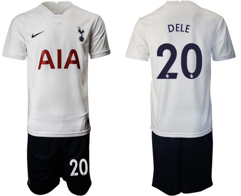 Men 2021-2022 Club Tottenham home white 20 Nike Soccer Jersey