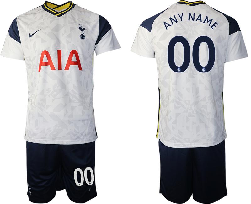 Men 2020-2021 club Tottenham home customized white Soccer Jerseys