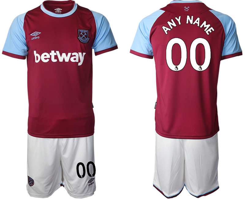Men 2020-2021 club West Ham United home customized red Soccer Jerseys