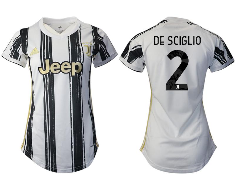 Women 2020-2021 Juventus home aaa version 2 white Soccer Jerseys