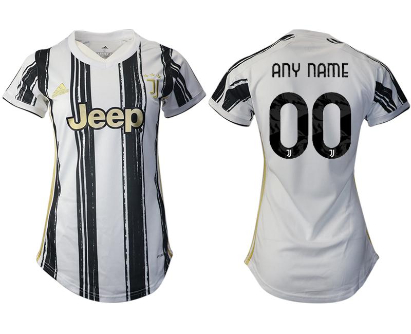Women 2020-2021 Juventus home aaa version customized white Soccer Jerseys