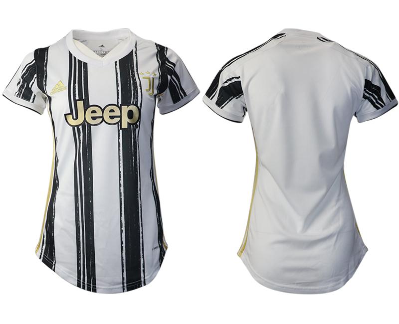 Women 2020-2021 Juventus home aaa version blank white Soccer Jerseys