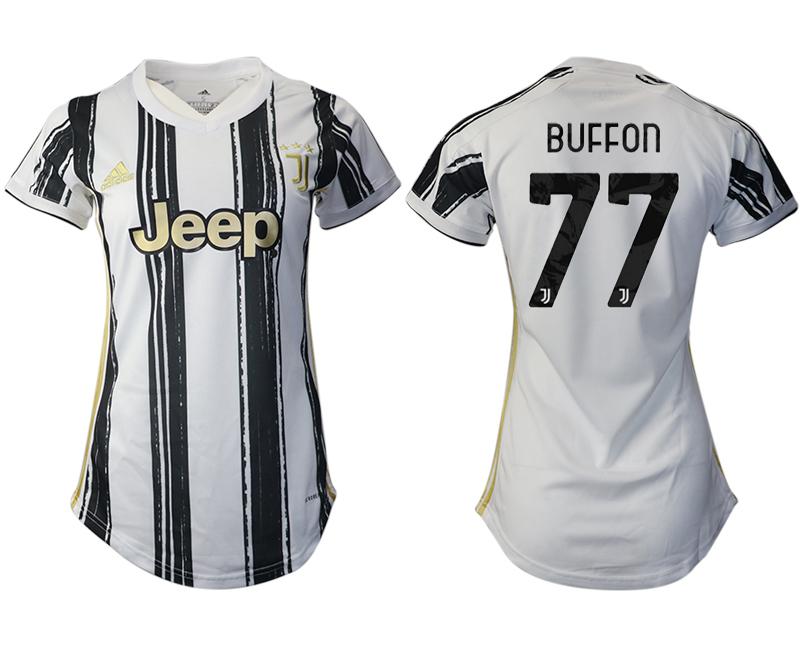 Women 2020-2021 Juventus home aaa version 77 white Soccer Jerseys