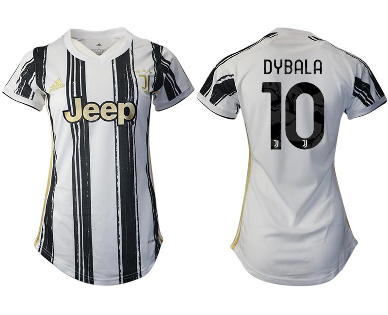 Women 2020-2021 Juventus home aaa version 10 white Soccer Jerseys