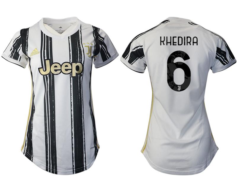 Women 2020-2021 Juventus home aaa version 6 white Soccer Jerseys